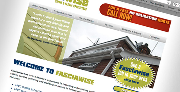 FasciaWise: Website Design & Hosting