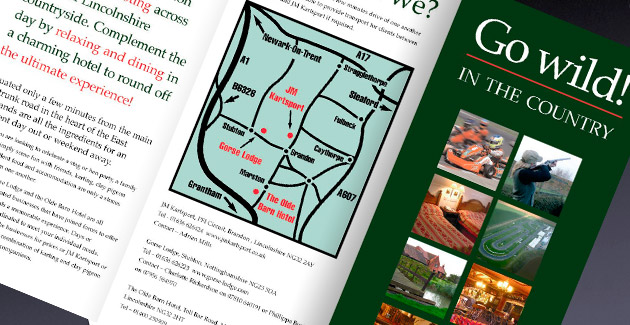 Go Wild in the Country: Promotional Leaflet Design