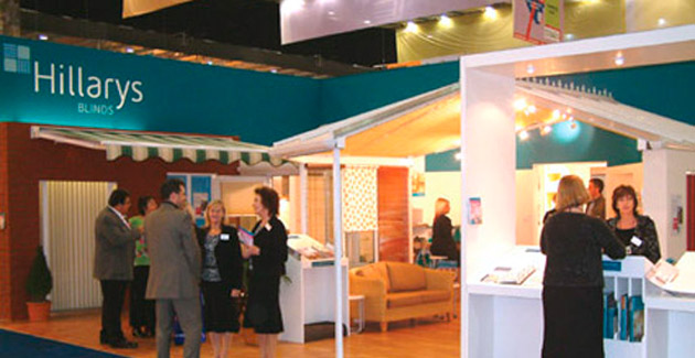 Hillary's Blinds: Exhibition Stand Design & Build for Ideal Home Show