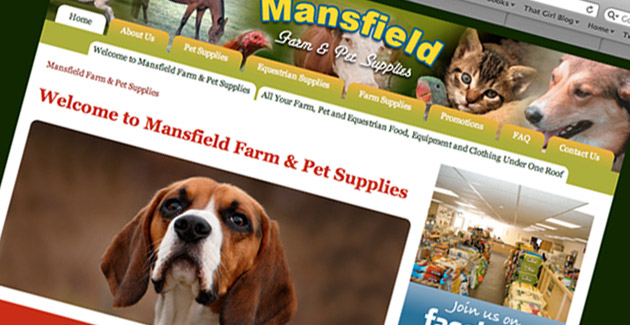 Mansfield Farm & Pet Supplies: Website Design & Hosting