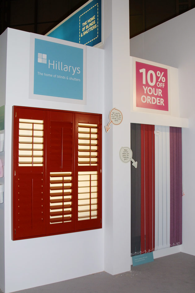 Exhibition Stand for Hillary's Blinds